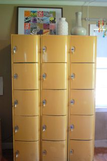 Attirant Color Marie: Decorative Storage Ideas Using Vintage Lockers