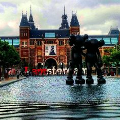 Stormy weather outside the Rijksmuseum