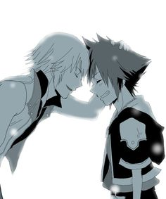 Riku: You did your best. Sora. Sora: Hehe. These two have such an adorable friendship.