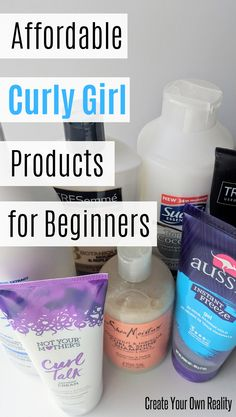 Get your curly girl method routine started with these curly hair products. These drugstore products are all curly girl approved and perfect for beginners (or even curly girl pros!). #naturalcurlyhair #HairCareOil Curly Hair Styles, Curly Hair Tips, Curly Hair Care, Short Curly Hair, Natural Hair Styles, Frizzy Curly Hair Products, Curly Hair Shampoo, 3a Hair, Curly Braids