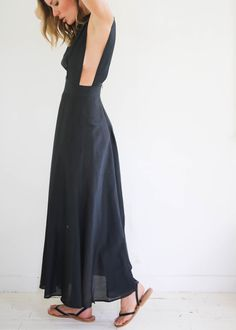 Silk Cotton Apron Dress