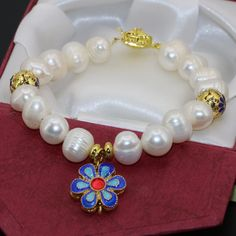 Free shipping unique design clasp natural white cultured freshwater 10-11mm pearl bracelets women elegant jewelry 7.5inch B2756
