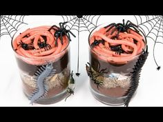 Gummy Worms in Dirt Cups for Halloween from Cookies Cupcakes and Cardio - YouTube