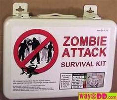 did you know there has been a increase in reported zombie attacks in the last 5 years? isn't it about time you got your own zombie attack surv. in case of zombie attack Zombie Apocalypse Survival, Zombie Apocolypse, Zombies Survival, Zombie Plan, Zombie Zombie, Funny Zombie, Zombie Hunter, Halloween Zombie, Zombie Movies