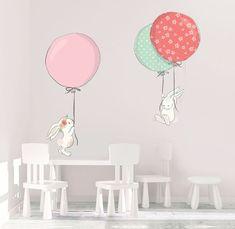 Naklejki ścienne króliczki i balony -- Infinity zł/ Art For Kids, Crafts For Kids, Coraline, Nursery Decor, Room Decor, Classroom Crafts, Cute Illustration, Baby Room, Playroom