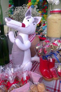 Lobo mau de Feltro - Festa Chapeuzinho Vermelho - Lobo Mau - Festa Saudável - Festa ao Ar Livre