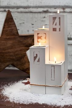 Adventskranz DIY aus Holz