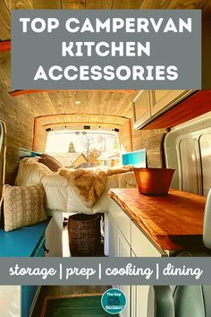 Are you looking for campervan & motorhome kitchen accessories? We've got all the best multi-purpose, space saving & lightweight accessories to make life easier on the road #motorhomekitchenaccessories #campervankitchenaccessories #motorhomecooking #motorhomekitchenideas #campervankitchenstorage #spacesavingcampervankitchenideas Campervan Accessories, Motorhome Accessories, Rv Accessories, Kitchen Accessories, Motorhome Living, Motorhome Interior, Kitchen Storage Containers, Kitchen Storage Solutions, Cooking Equipment