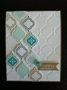 lisaloostamps.com May Class, Mosaic Madness Birthday Card