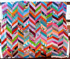 QAYG Chevron Quilt Tutorial: Made By Marzipan