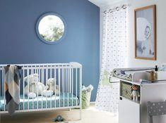 Chambre bebe mur bleu