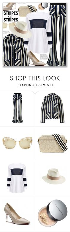 """""""Pattern Challenge: Stripes on Stripes (Vacation Style)"""" by jecakns ❤ liked on Polyvore featuring Rosie Assoulin, Dolce&Gabbana, RED Valentino and Helen Kaminski"""