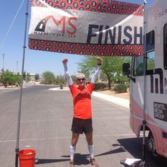This will never get old! Congratulations @jayruns4ms on your Relay Segment FINISH! #msruntheus #NV
