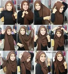 Image result for what style of hijab suits a round face