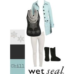Wet Seal. Cozy outfit. too bad it's not winter I love this outfit, reminds me of elsa