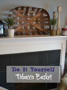 DIY Tobacco Basket - redcottagechronicles.com http://www.redcottagechronicles.com/mantels/diy-tobacco-basket/