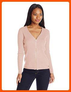 Calvin Klein Women's Ribbed Cardigan, Blush, M - All about women (*Amazon Partner-Link)