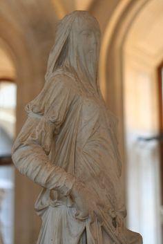 ☫ A Veiled Tale ☫  wedding, artistic and couture veil inspiration - Veiled Sculpture, Louvre, Paris