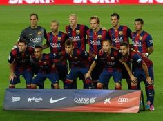 La Liga, Round 1 ~ FCB 3 v. Elche 0,   24 August 2014: Barca Line-Up.