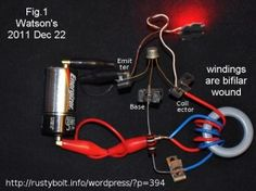 Basic Theory Applied to Joule Thief Pt. 1 The Coil Diy Electronics, Electronics Projects, Joule Thief, Tesla Coil, Arduino Projects, Nikola Tesla, High Voltage, Electrical Engineering, Joules