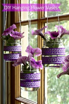 hanging flower vases inspired by the new Suavitel fragrance Pearls #ad #LongLastingScent