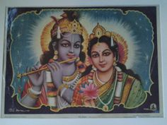 A 1930's Sharma Picture Publication print of Krishna by Lallibhai, £10.00