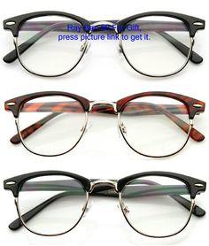 e13c3276554 Horn-rimmed half-wire glasses