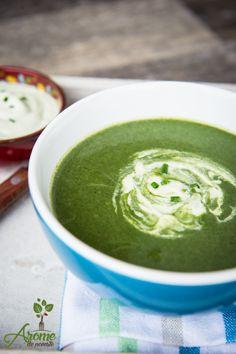 Supa crema de spanac si broccoli - cu ajutorul supelor crema putem integra legumele mai usor in meniul copiilor. Stevia, Palak Paneer, Supe, Mai, Cooking, Ethnic Recipes, Desserts, Food, Diet