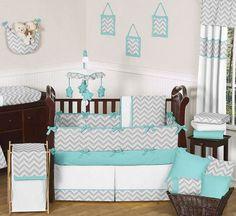 Zig Zag 9 Piece Crib Bedding Set