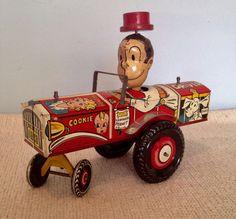 Marx tin litho Dagwood the Driver windup toy