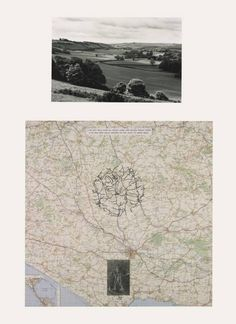 Richard Long: Cerne Abbas Walk, Ink, typescript, photograph on map and photograph, gelatin silver prints on paper. Two items: support (photograph): 320 x 495 mm support (map): 687 x © Richard Long. Richard Long, Land Art, Systems Art, Tate Gallery, Gelatin Silver Print, Gcse Art, Art And Architecture, Art Projects, Contemporary Art