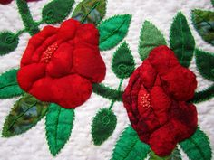 Red Roses from the Quilt Show by carliewired, via Flickr