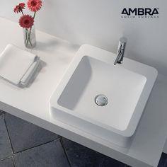 Vasque 90 cm suspendue ou à poser, en Solid surface - Malaga ...