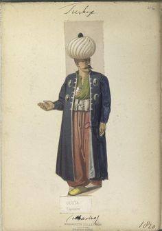 The Vinkhuijzen collection of military uniforms / Turkey, See McLean's Turkish Army of Turkish Military, Turkish Army, Army Uniform, Military Uniforms, Turkish Soldiers, Military Costumes, Muslim Culture, Cradle Of Civilization, Period Costumes