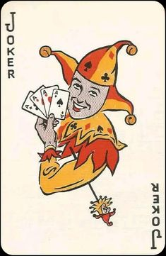 Joker Playing Card, Joker Card, Playing Cards, Jokers Wild, Court Jester, Trump Card, House Of Cards, Decks, Card Games