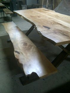 LIVE EDGE MAPLE HARVEST TABLE - contemporary - spaces - toronto - Tree Green Team