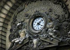 Palatul CEC Bank, Bucharest photo on Sunsurfer Beautiful Places, Country, Architecture, Clocks, Bucharest Romania, Statues, Sun, People, Beauty
