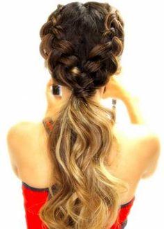 18. Double dutch braids in a ponytail