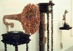Amazing button sculpture