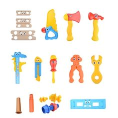 Joyzenith Cartoon Style Plastic Construction Tools Toy Set >>> Want to know more, click on the image.