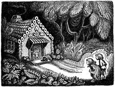 """WANDA GÁG. Illustrations from 200 Years of Brothers Grimm Fairy Tales. ~ """"Anyone who writes down to children is simply wasting his time"""" -E.B. White"""