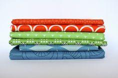 Split-Complementary Color Scheme.  Red-orange, Green, Blue by Jeni Baker, via Flickr