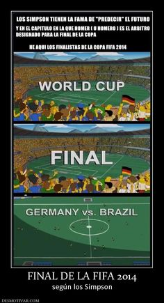 FINAL DE LA FIFA 2014 según los Simpson