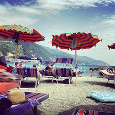 Spiaggia di Monterosso al Mare, Cinque Terre, Italia
