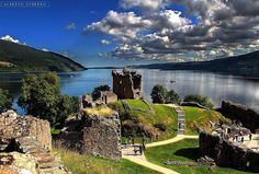 Urquhart Castle & Loch Ness, Scotland.