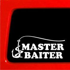 Master Baiter Funny Sticker for Car Truck Laptop Bumper