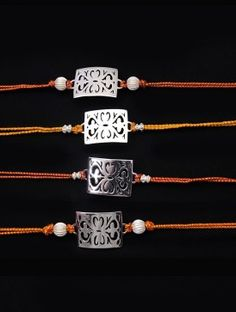 Baroque Silver-Plated Rakhi
