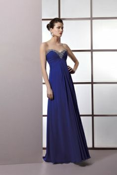 Demetrios Evening Style M998 by Demetrios - 0 - 28 - Ruching on empire bodice and jewelry on neckline