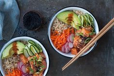 Easy Salmon Poke Bowl