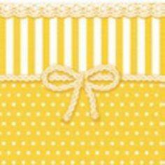 Servietten Schleife Streifen gelb weiß 25x25cm 20Stück 3-lagig